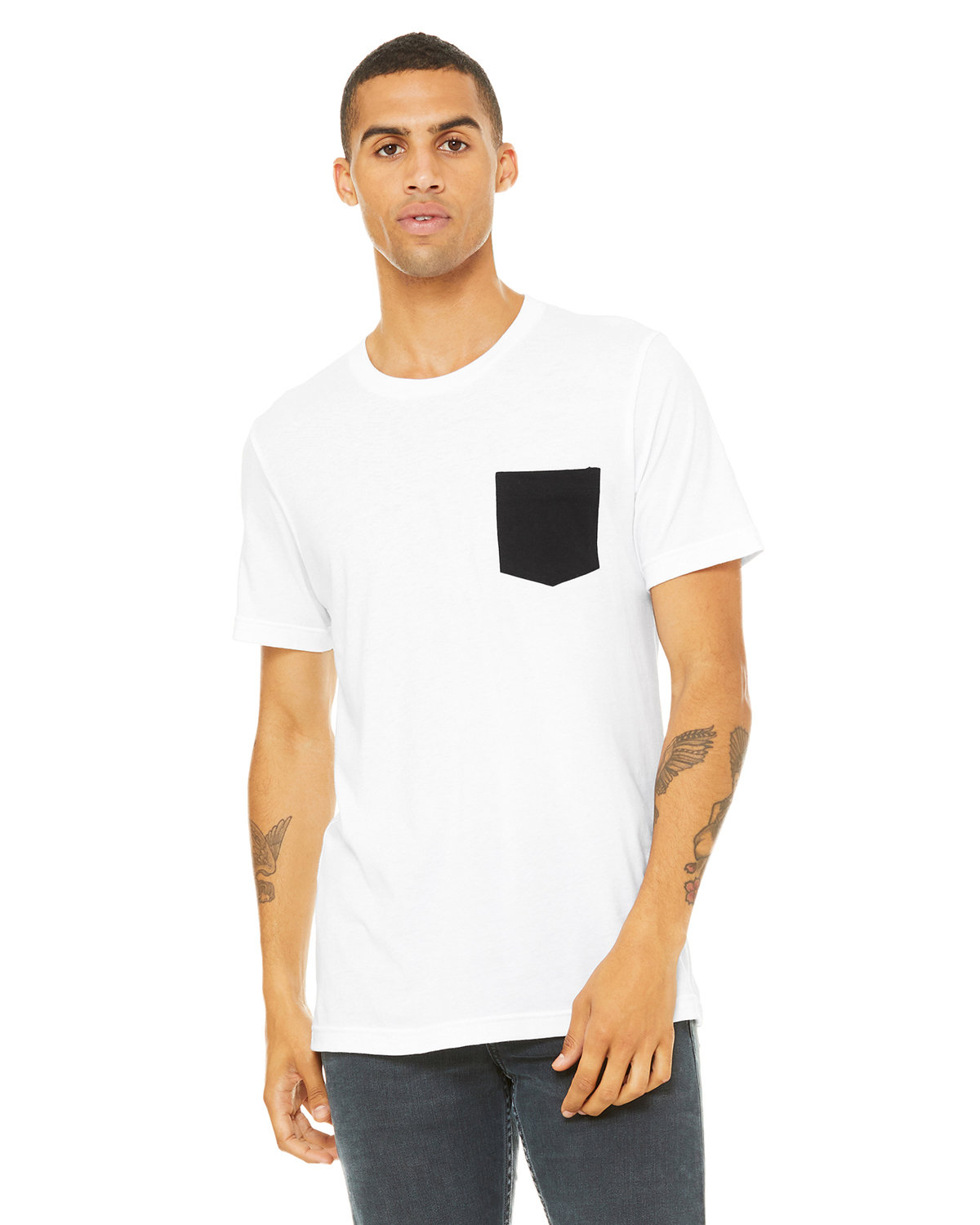 White shirt black pocket south park t shirts for Pocket t shirt printing