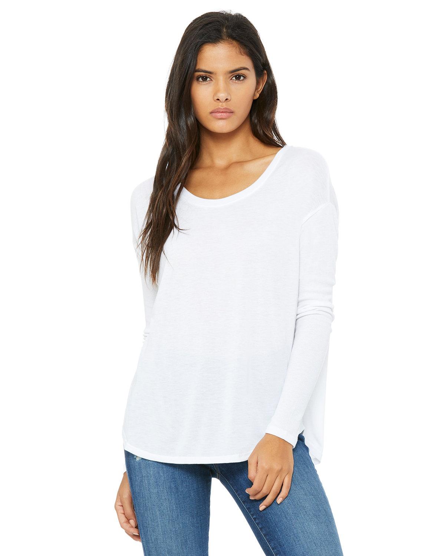 Bella Canvas 8852 - Ladies' Flowy Long Sleeve T-Shirt With 2x1 Rib ...