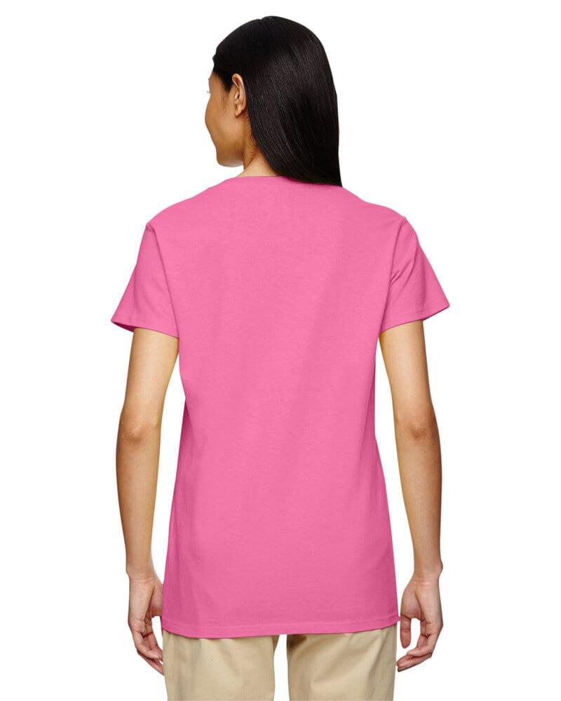 Gildan 5v00l Ladies Heavy Cotton V Neck T Shirt With Tearaway Label
