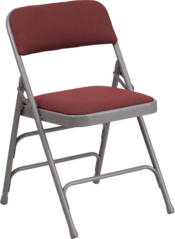Wordans Home AW MC309AF   HERCULES Series Curved Triple Braced U0026 Double  Hinged Fabric Metal Folding Chair