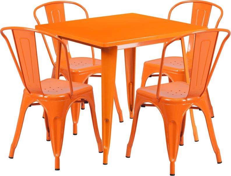 Flash Furniture ET-CT002-4-30 - 31.5\'\' Square Metal Indoor-Outdoor ...