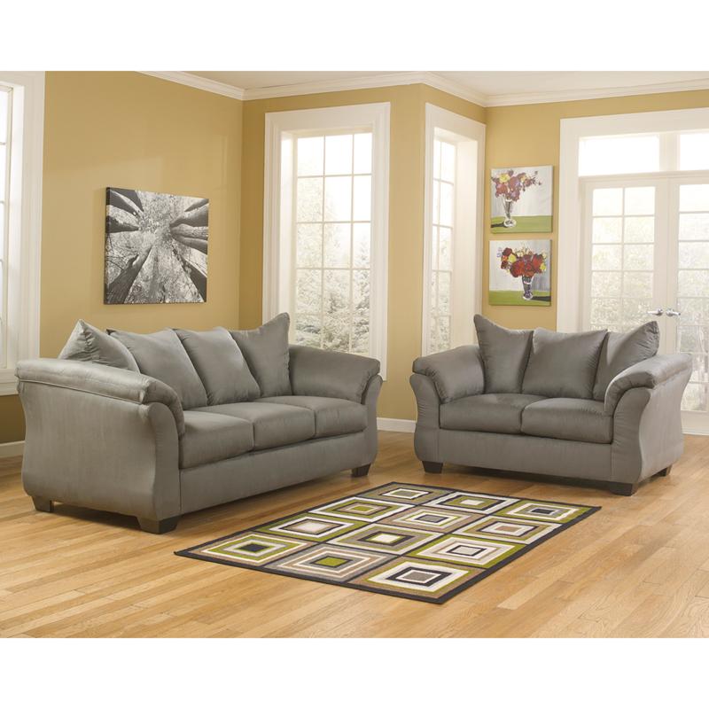 Flash Furniture FSD 1109SET   Signature Design By Ashley Darcy Living Room  Set In Cafe Microfiber