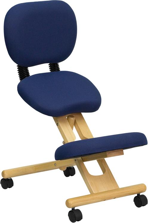 Flash Furniture WLSB310 Mobile Wooden Ergonomic Kneeling Posture