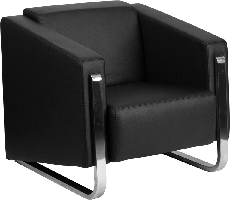 Flash Furniture ZB 8803 1 CHAIR   HERCULES Gallant Series Contemporary  Leather Chair With Stainless Steel Frame